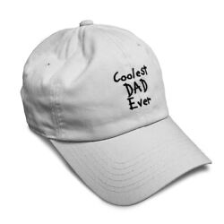 Soft Women Baseball Cap Coolest Dad Ever Black Embroidery Dad Hats for Men $14.99