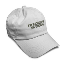 Soft Women Baseball Cap I#x27;D Rather Be Skydiving Embroidery Dad Hats for Men $14.99