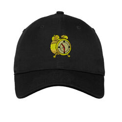 Soft Women Baseball Cap Alarm Clock Old Style Embroidery Dad Hats For Men