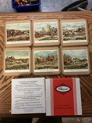 Vintage Pimpernel Six Traditional Coasters North American Water Birds