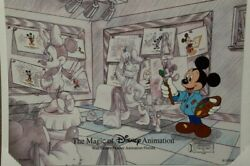 Disney Animation Gallery Cel Character Class 2003 W/signed Card