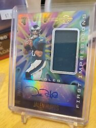 2020 Illusions Jalen Hurts 1st Impressions Rpa 185/299 Eagles Hobby Sweet Look