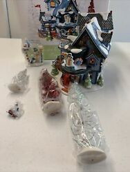 Dept 56 North Pole Series Frosty's Christmas Weather Station Building