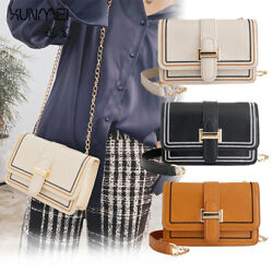 Women Chain Messenger Purse Satchel Flap Handbag Box Belt Shoulder Crossbody Bag $15.69