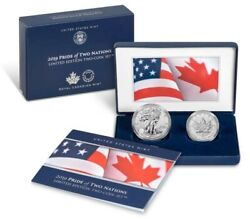 2019 Pride Of Two Nations -5 Sealed Sets Us Mint 1silver Eagle And 5 Maple Leafandnbsp