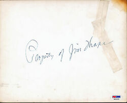 Jim Thorpe Property Of Authentic Signed 8x10 Photo Autographed Psa/dna H49339