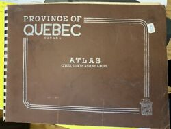Antique Atlas Province Of Quebec Oligny Publisher Colored Maps