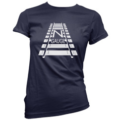 N Gauge Womens T-shirt Pick Colour And Size Gift Present Model Railway Train