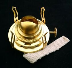 Best Quality Available Replacement 0 Queen Anne Brass Oil Lamp Burner