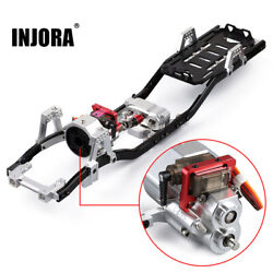 313mm Wb 1/10 Axial Scx10 90046 Metal Chassis Frame And Prefixal Shiftable Gearbox