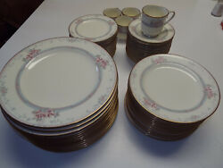 55pc 13 Dinner And Salad And Bread Plates 4 Cups Saucer Noritake Magnificence 9736