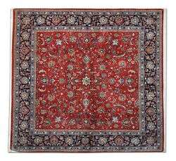 Vintage Hand Made Traditional Rug Oriental Red Blue Wool Carpet 202x215cm
