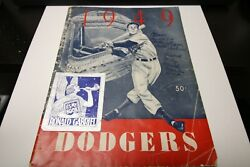 1949 Los Angeles Dodgers Official Yearbook Mlb Baseball Rare Vintage Condition