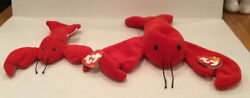 Ty Pinchers The Lobster Beanie Baby 1993 Mint Condition P.v.c.pellets-no Stamp