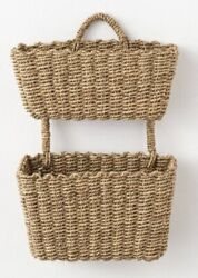 New Threshold Studio Mcgee Set Of 2 Hanging Seagrass Wall Baskets Target