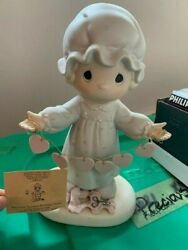 1989 Precious Moments Retired You Have Touched So Many Hearts Large Fig523283