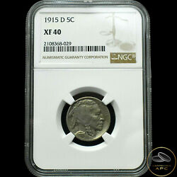 1915-d Buffalo Nickelextra Finexf40 By Ngcgreat Lusteronly 25 This Grade