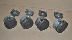 Set Of 4 Volvo Penta Aq131 Piston And Connecting Rods Oem 4 Cylinder Marine Gas