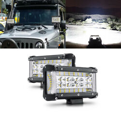2x 6''inch Led Pods Light Bar Spot Flood Combo Truck Offroad 4wd Suv Driving Atv