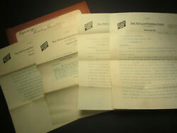 1912 To 1918 Freedom Pa - St. Clair National Bank Papers - 18 In Total