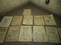 Vintage 1920's 12 Lot Sunday School Judefind Publisher Religious Song Books