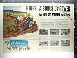 Ads- 1956 Ge Lh-12n Ford Tractor 2 3 Plow Wheel Weights Farming Ad Advertisement