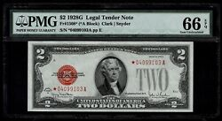 1928 2 Dollar Beautiful Note With Red Seal And Stars Grade 66epg Gem
