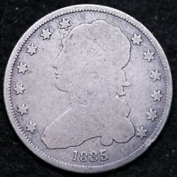 1835 Capped Bust Quarter Choice G+ Free Shipping E376 Wes