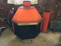 Malm Orange Retro Vintage Electric Queen Jester Fireplace