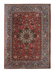 Large Oriental Handwoven Carpet Vintage Traditional Red Wool Area Rug 308x430cm