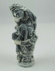 Baba Yaga beldam figurines Russian folklore small figurines marble chips