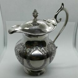 Antique Teapot From India 1950-60 Sterling Silver 900