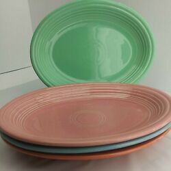 4pc Hlc Fiestaware Retired Oval Platters Fiesta 11.5in X 9in Serving Dishes 5d2