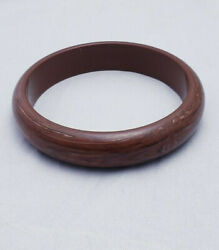 Brown Colored Lucite Bangle Mixed Tones Swirl Vintage Bracelet