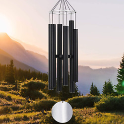 Wind Chimes Large Outdoor Garden Deep Tone Relaxing Soothing Low Bass 36 Inch