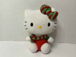 2012 Hello Kitty Christmas Ty Toy Beanie Babies. Green And Red. 6 inch. No Tag.