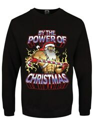 By The Power Of Christmas Menand039s Black Jumper