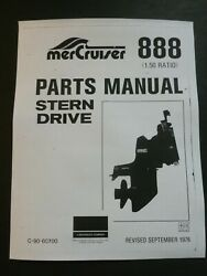 1976 Mercury Mercruiser 888 1.50 Ratio Stern Drive Part Manual List C-90-60700
