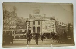 Antique Boston Photo Scollay Square Crawford House Hotel Horse Buggy Cobb#x27;s