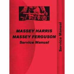 Service Manual - Te20 To20 To30 Compatible With Massey Ferguson To30 To30 To20