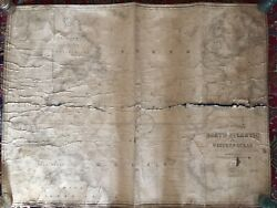 Antique 1853 Nautical Chart Of North Atlantic By James Imray