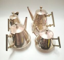 Antique Sterling Silver 833 Teapots And Coffee Set 1887-1937 Portugal
