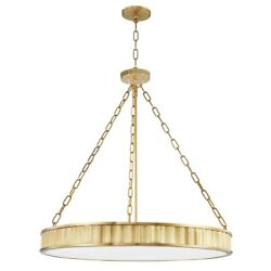 Hudson Valley Middlebury 8 Light Chandelier Aged Brass/glossy Opal - 903-agb