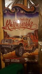 2014 Rattlesnake Raybestos Tin Sign New Excellent Condition Size 24x36