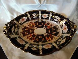 1940s Royal Crown Derby Imari And Co. 2451 Footed Oval Serving Platter