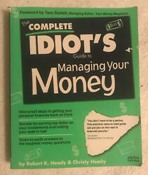 The Complete Idiots Guide To Managing Your Money 1995 K Heady C Heady Paperback