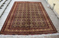 8and0393 X 11 Handmade Afghan Tribal High Quality Best Meranose Wool Persian Area Rug