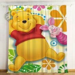 Winnie The Pooh Curtains 1 Panel Window Curtain Drapes With Grommets Kids Room