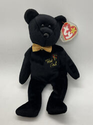 """New Mwmt 1999 Rare Retired Collectible """"the End"""" Ty Beanie Baby Bear W/ Errors."""