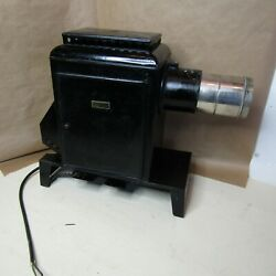 Antique Bausch And Lomb Optical Glass Slide Projector Magic Lantern 1917 Mp238